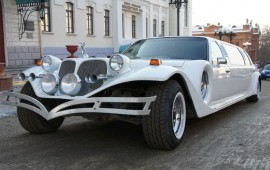 "Лимузин ""Excalibur Phantom"", цвет белый"