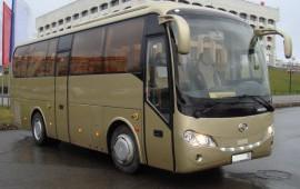 Перевозка людей на автобусе  KING LONG - 2013 года выпуска