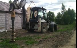 Аренда экскаватор погрузчик услуги ямобур трактор