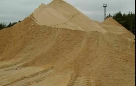 Песок любого вида с доставкой от 3 кубов