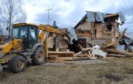 Демонтаж старых домов сооружений