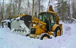 Уборка и вывоз снега Услуги экскаватора-погрузчик