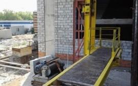 Аренда строительного мачтового подъемника