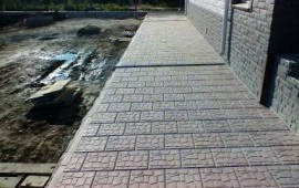 Тротуарная плитка, бордюр, асфальтирование.