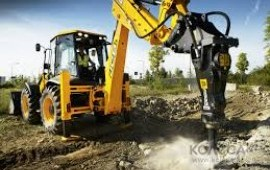 JCB 3cx super с гидромолотом