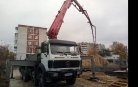 Аренда бетононасоса мерседес 36м  услуги*заказ