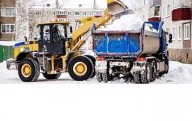 Уборка и вывоз снега с погрузкой.
