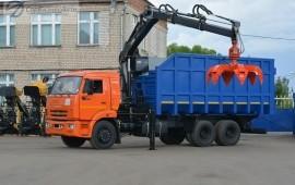 Аренда ломовоза с манипулятором мусоровоз