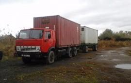 Камаз контейнеровоз, изотермический с подогревом