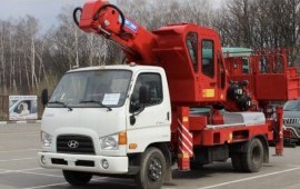 Аренда автовышки 35 м услуги СПБ, Лен. область