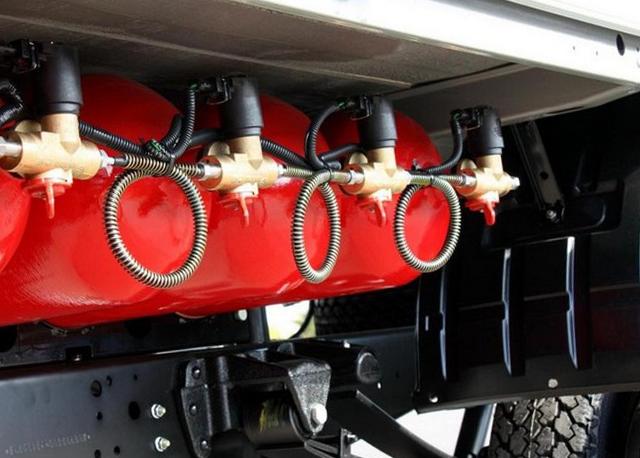 Установка газового оборудования на грузовик и спецтехнику
